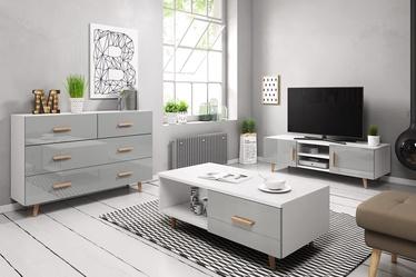 Svetainės baldų komplektas Vivaldi Meble Sweden White/Grey