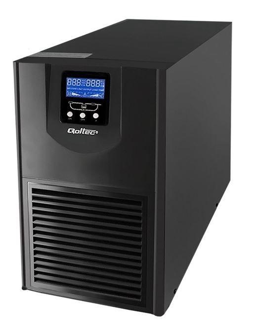Qoltec UPS 3kVA / 2400W / LCD
