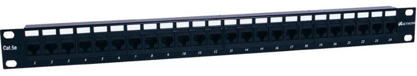 Intellinet Patch Panel 19'' UTP CAT 5e RJ45 x 24 Black