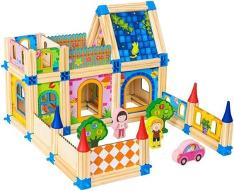 EcoToys Wooden House Construction Set