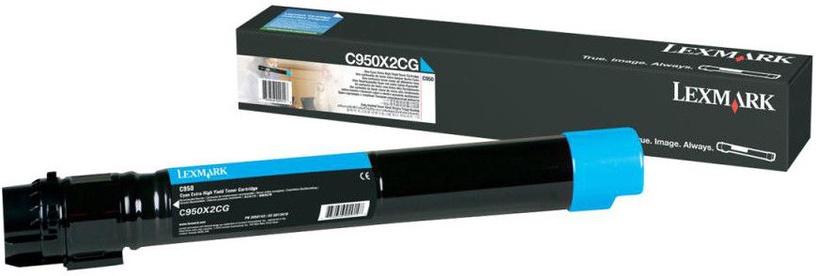 Lazerinio spausdintuvo kasetė Lexmark C950X2CG Cyan