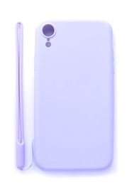 Evelatus Soft Touch Back Case With Strap For Apple iPhone XR Purple
