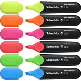 Schneider Pen Job Highlighter 6pcs 115096