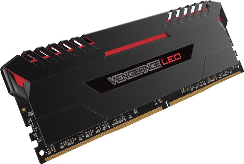 Corsair Vengeance RED LED 32GB 2666MHz CL16 DDR4 KIT OF 4 CMU32GX4M4A2666C16R
