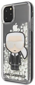 Karl Lagerfeld Iconic Glitter Glow In The Dark Back Case For Apple iPhone 11 Pro Max Transparent