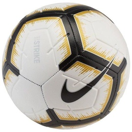 Nike Strike Soccer Ball White/Black/Gold Size 5