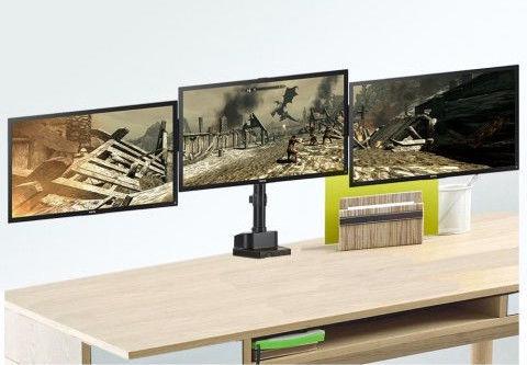 Maclean MC-811 Desk Holder 3 Monitors