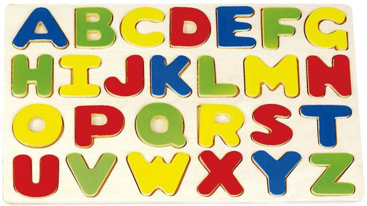 Lavinamasis žaislas, raidės, medinis