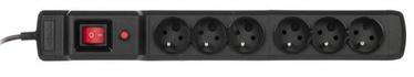 ActiveJet Surge Protector 6 Outlet Black 4.5m