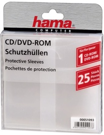 Hama CD/DVD Protective Sleeves x 25 Transparent