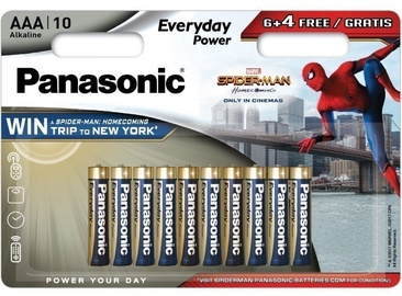 Panasonic Everyday Power Spider Man Battery LR03EPS/10BW 6+4 x AAA