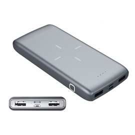 Išorinė baterija Platinet 10000MAH QI wireless
