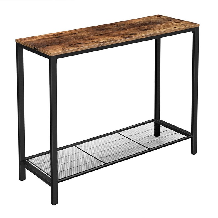 Konsoles galds Songmics 1, brūna/melna, 1000x350x800 mm