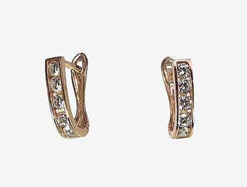 Diamond Sky 14K Red Gold Earrings Confetti XIII Solid Gold 585