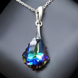 Diamond Sky Pendant Baroque IV Meridian Blue With Crystals From Swarovski