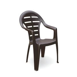 Kėdė Guinea, plastikinė, pilka