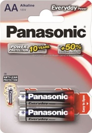 Panasonic LR6 Alkaline Battery AA x 2