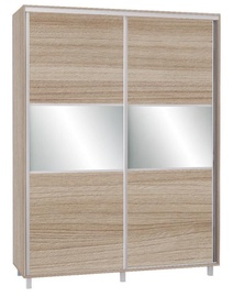 Skapis Bodzio SZP180W Latte, 180x60x240 cm, with mirror
