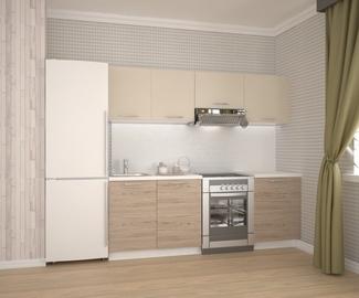 Virtuvinių spintelių komplektas Katia 220, smėlio / ąžuolo