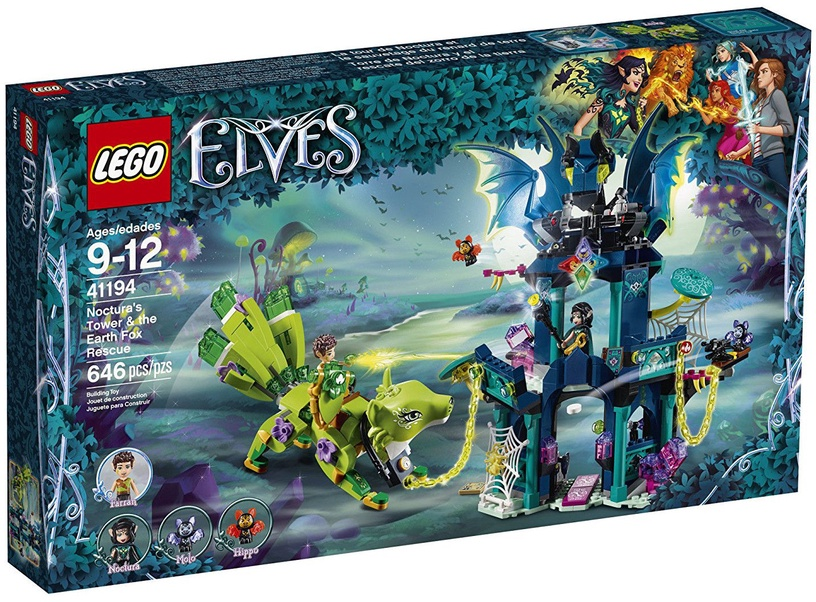 Конструктор LEGO Elves Noctura's Tower & The Earth Fox Rescue 41194 41194, 646 шт.