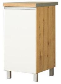 Нижний кухонный шкаф Bodzio Monia 40 Right White/Brown, 400x520x820 мм
