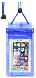 TakeMe Universal Waterproof Slim Case With Zipper For Mobile Devices 6'' Blue