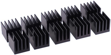Alphacool GPU RAM Aluminium Heatsinks 15x15mm Black 10pcs