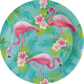 Popierinės lėkštės Flamingo Paradise, 8 vnt.
