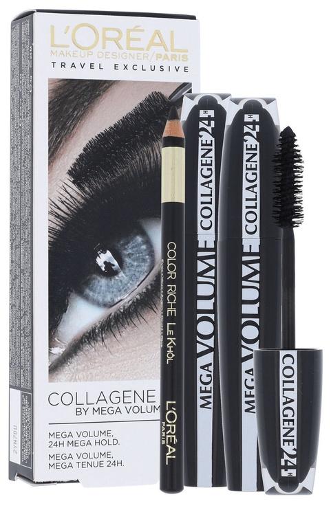 L´Oreal Paris Mega Volume Collagene Black Set