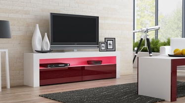 TV galds Pro Meble Milano 157 White/Red, 1575x350x500 mm