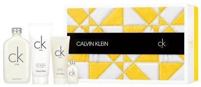 Набор для женщин Calvin Klein CK One 200 ml EDT + 15 ml EDT + 200 ml Body Lotion + 100 ml Body Wash Unisex