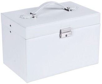 Songmics Jewelry Box White/Beige 24.5x15.5x16cm