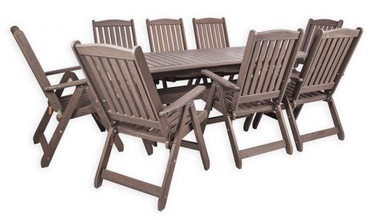 Folkland Timber Folding Garden Set Bavaria 8 Graphite