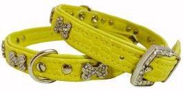Hunter Collar Croque Bone Yellow 32cm