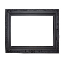 Metnetus K-10 515x625mm Fireplace Door Black