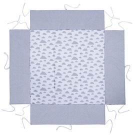 Lulando Playpen Mat For Children Grey With Dots/White With Clouds 100x100cm
