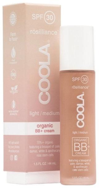 BB sejas krēms Coola Rosilliance Organic BB+ SPF30 Light Medium, 44 ml
