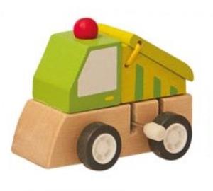 Woody Clockwork Construction Machine Green 90999