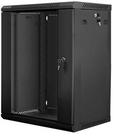 Serverikapp Lanberg 15U 600x450 Wall-Mounted Rackmount Black