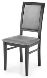 Стул для столовой Halmar Sylwek 1, черный/серый