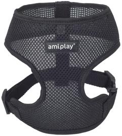 Шлейка Amiplay Air, черный, 400 - 550 мм x 340 мм