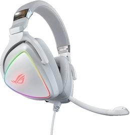 Žaidimų ausinės Asus ROG Delta White Edition White