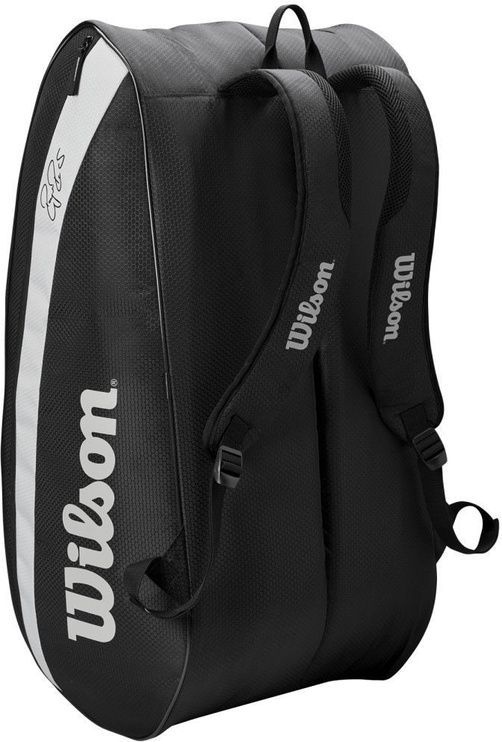 Wilson Roger Federer 12 Pack Bag Black