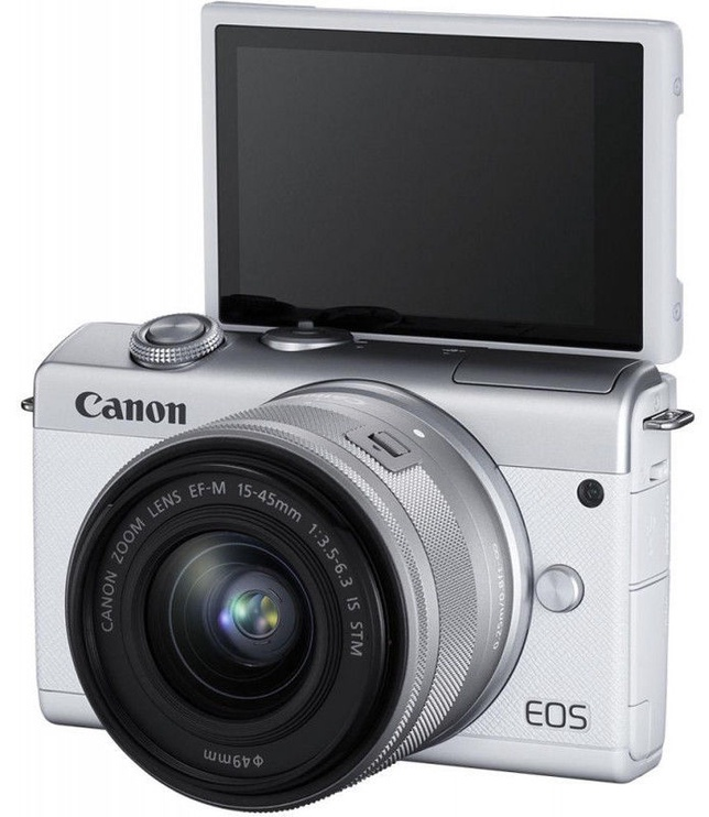 Canon EOS M200 + EF-M 15-45mm IS STM White