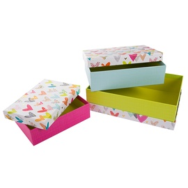 Подарочная коробка Goldbuch Lots Of Hearts, синий/белый/желтый/розовый, 260 мм x 185 мм x 70 мм
