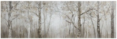 Home4you Print Picture Oil On Canvas 50x150cm Forest 83721