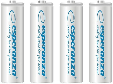 Esperanza Rechargeable Batteries 4x AA 2000mAh White