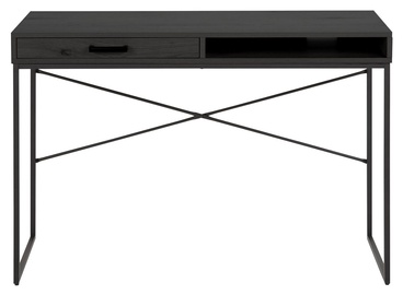 Home4you Seaford Writing Desk 110x45xH75cm Black