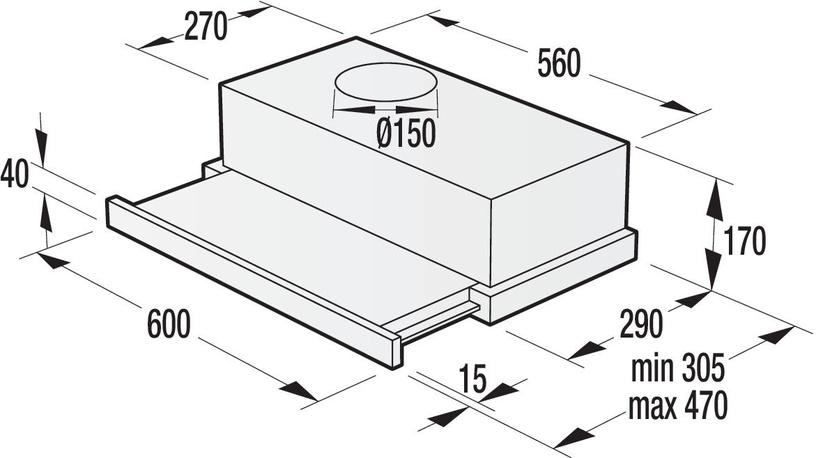 Įmontuojamas gartraukis Gorenje BHP623E10X
