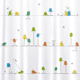 Vannas istabas aizkars Tatkraft Funny Frogs, daudzkrāsains, 1800 mm x 1800 mm
